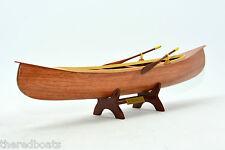"""Peterborough canoe 24"""" - Wooden Handmade Row Boat Model"""