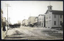 Reeseville WI~1900's SOUTH ON SOUTH MAIN STREET ~ RPPC