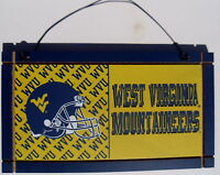 West Virginia Mountaineers University College Licensed Wooden Sign Sport Fan B