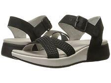 Dansko Cindy Sandal, Black Nubuck Leather, Women Size 37 (6.5-7) $110