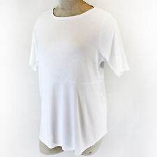 693a765bf84481 NEW J.Jill Plus Size White Cotton Short Sleeve Tee Top Shirt Spring Summer  2X