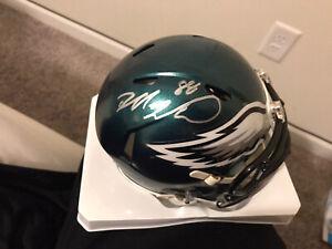 dallas goedert autographed mini helmet fanatics