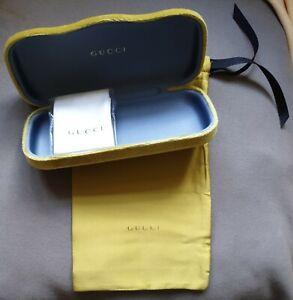 Gucci Yellowgreen Velvet Glasses/ Sunglasses Case+ pouch+ cloth unused hard case