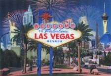 LAS VEGAS iconic Sign by Day and Night -Motion Lenticular Postcard Greeting Card