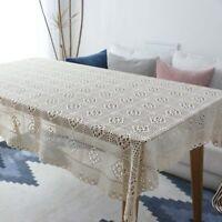 Lace Tablecloth Suministros de mesa de comedor Cubierta de mesa hueca de encaje
