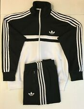 Adidas Originals Adi-Icon Tracksuit Black White Size M
