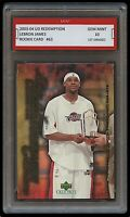 2003 LEBRON JAMES #63 UPPER DECK REDEMPTION 1ST GRADED 10 ROOKIE CARD RC LAKERS