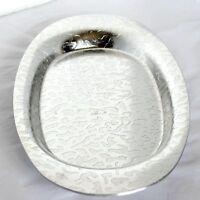 VTG KENSINGTON MOIRE Platter Art Deco Oval Serving Dish Tidbit Bread Tray Vanity