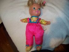 "1996 TOY BIZ 8"" Magic Headstand or Tumbler Soft Blond Blue Eyed Baby Doll"