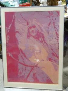1970 William Weege Libra Flocked Glitter Serigraph Print Artist Proof Madison WI