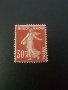 FRANCE TIMBRE N°360 TYPE SEMEUSE NEUF ** LUXE MNH 1937
