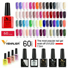 NAIL GEL POLISH Set COLOURS Venalisa Nails UV LED SOAK OFF BASE TOP COAT QUALITY