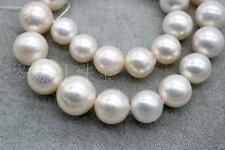 "HUGE 18""13-16MM NATURAL SOUTH SEA GENUINE WHITE NUCLEAR PEARL NECKLACE"