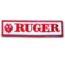 Ruger Patch Iron on Biker Gun Shooter Army Sticker Sew Firearms Weapons Rifle MC
