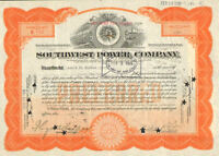 Southwest Power Company > 1924 share stock certificate