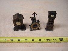 Lot of 3 VINTAGE METAL PENCIL SHARPENERS    Clock Theme
