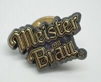 Meister Brau Beer Logo gold tone Vintage Lapel Pin
