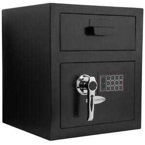 Barska Standard Keypad Depository Safe w/ Door Drop Slot & Back-up Keys, AX11932