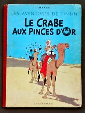 Tintin - Le crabe aux pinces d'or - hc - B3 - met 4 grote kleurplaten
