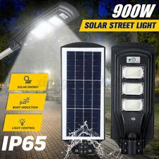 900W LED Outdoor Solar Wall Street Light Motion Sensor Garden Floodlight Lamp