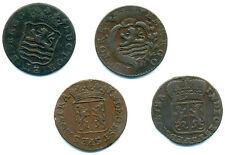 Niederlande, Lot v. 4 Münzen Zeeland + Gelderland