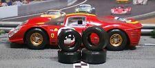 1/32 URETHANE SLOT CAR TIRES 2pr Tuning set fits SCALEXTRIC Ferrari 330 P4