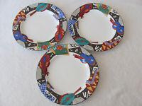 Sakura Composition #5 - Musical Instruments/Newspaper - Set of 3 Salad Plates