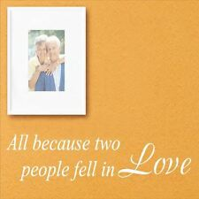 Huhome PVC Wall Stickers Wallpaper English Fell in Love love romantic couple hom