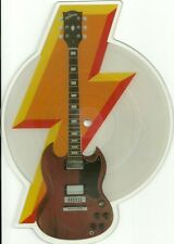 EX! AC/DC WHO MADE WHO VINYL SHAPED PICTURE PIC DISC