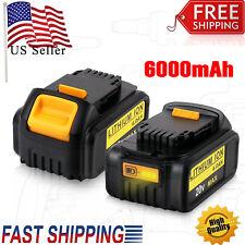 2PCS DCB206 For Dewalt 20V DCB200 DCB204 DCB203 DCB180 DCB181 MAX 6.0Ah Battery