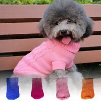 Small Dog Clothes Pet Winter Sweater Knitted Puppy Warm Clothing Apparel Coat