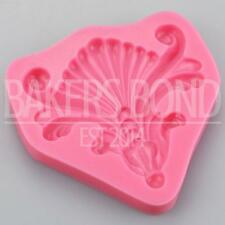 Baroque Vintage Shell Fan Swirls Silicone Mould Cake Fondant Sugarcraft Topper
