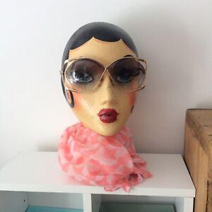 Vintage/Retro Christian Dior Designer Sunglasses, Oversized, Gold Rim, Optyl