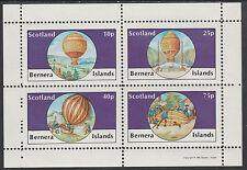 GB Locals - Bernera 2827 - AVIATION - BALLOONS perf sheetlet unmounted mint