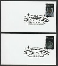 US 5399-5400 1969 First Moon Landing (set of 2) BWP FDC 2019