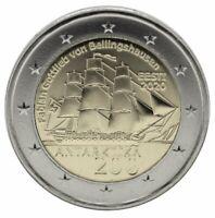 2 EURO ESTONIA 2020 - 200° SCOPERTA DELL'ANTARTIDE - UNC FDC
