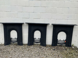 1 original Ornate fully Restored Cast Iron Fireplaces  £250 each