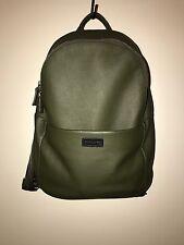Giorgio Armani Tumbled Calfskin Leather Backpack