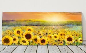 sunflowers painting  panoramic canvas picture print