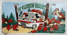 Disney Fort Wilderness Resort Camper License Plate Mickey Minnie Goofy Chipmunks