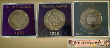 Trio of Cased New Zealand Cupro-Nickel One Dollars 1974, 78, 79