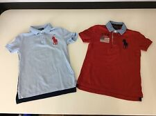 Ralph Lauren Polo Boys T Shirt Bundle X 2, Size Age 5 Years, Red Blue, Gc