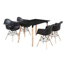 Moda Tub Dallas Dining Set - 4 x Moda Eiffel Tub Chairs & Black Dining Table New