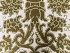 7 YD GROUNDWORKS LEE JOFA POMEGRANATE DAVID HICKS MOSS GREEN LINEN FABRIC OUTLET