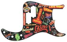 P Bass Precision Pickguard Custom Fender 13 Hole Guitar Pick Guard Neon Collage