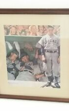 "NORMAN ROCKWELL ""THE DUGOUT"" Art Print Framed & Matted Chicago Cubs MLB Baseball"