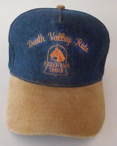 Death Valley  Ride Equestrian Trails Ball Cap Hat CREW Horse Trail Ride Buckle