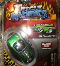 MUSCLE MACHINES '58 PLYMOUTH FURY 1958  1:64 MIP GREEN SERIES 2 with CARD