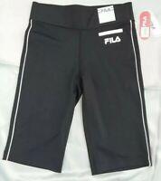 Fila Sport Women's Size XS Endurance Bermuda NWT Cropped Black Capris Pants Gym