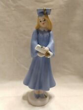 Vtg Growing Up Girls By Enesco 515760 Porcelain bisque Blonde graduation;Nwob